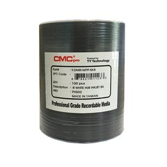 CMC Pro 8x DVD-R White Inkjet Hub Printable, 100 Discs