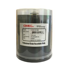 CMC Pro 8x DVD-R Shiny Silver Thermal Printable, 100 Discs