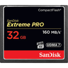 SanDisk 32GB Extreme Pro Compact Flash Card UDMA 7