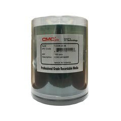 CMC Pro 52x CD-R Shiny Silver Thermal Printable - 100 Discs