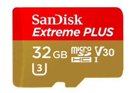 32 GB Extreme PLUS MicroSD UHS-1 / V30