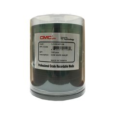 52x CD-R White Inkjet Printable, 100 Discs - T-CDR-WPY-SB