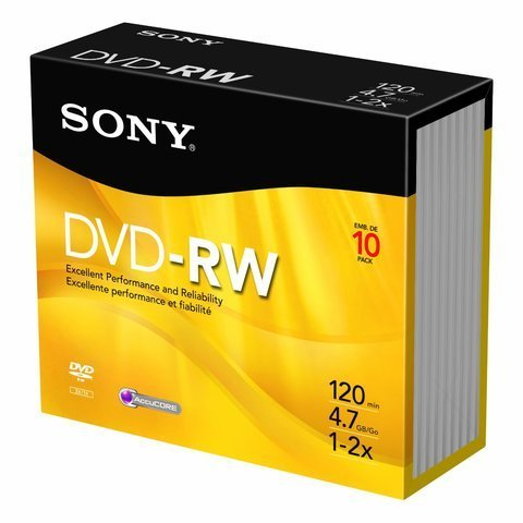 Sony DVD-RW 10-Pack Jewel Cases