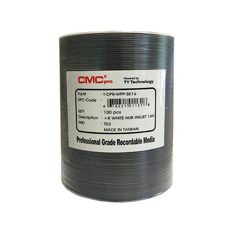 CMC Pro DVD+R White Inkjet Hub Printable 100 Discs Copy