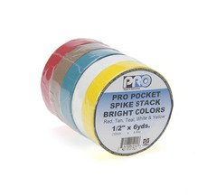 "Pro-Tapes Pro Pocket 1/2"" Spike Stack - Bright Colors"