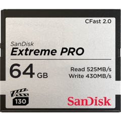 SanDisk Extreme PRO 64GB CFast 2.0 Memory Card