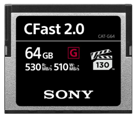 Sony 64GB CFast 2.0 Memory Card