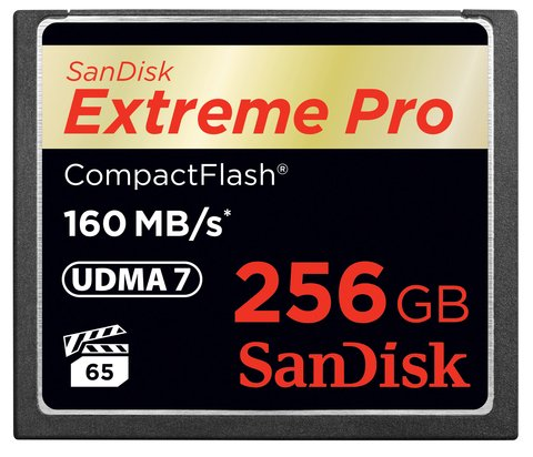 SanDisk 256GB Extreme Pro Compact Flash Card UDMA 7