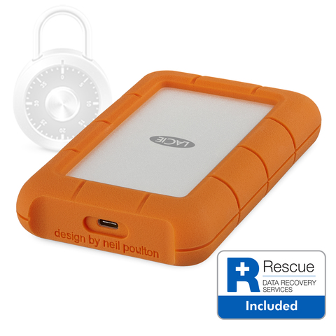 LaCie 2TB Rugged Secure USB-C