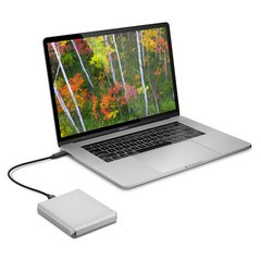 LaCie 4TB Mobile Drive, USB-C - Moon Silver