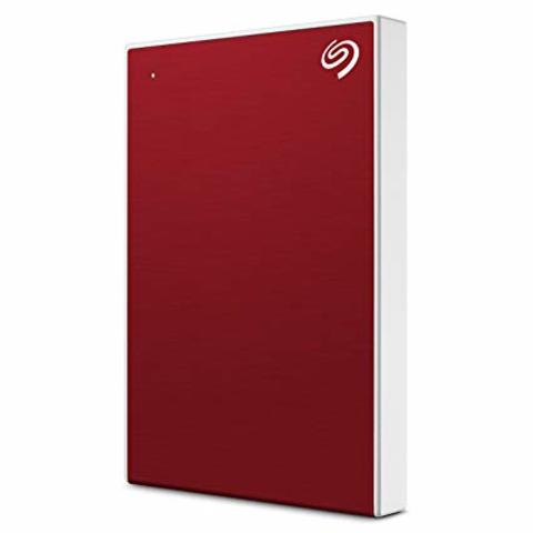 Seagate 2TB Backup Plus Slim Portable Drive - Red