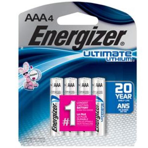 Energizer Lithium AAA Battery 4-Pack - L92SBP-4