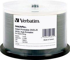 Verbatim DVD+R White Inkjet Printable 50 Discs