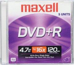 Maxell DVD+R Logo Branded 5 Discs