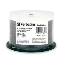 Verbatim 16x BD-R White Inkjet Printable - 50 Discs