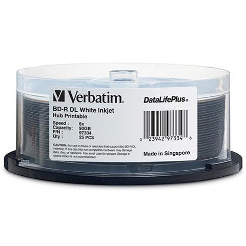 Verbatim 6x BD-R DL Dual Layer White Inkjet Printable - 25 Discs