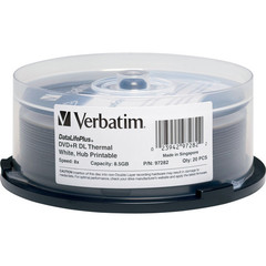 Verbatim 8x DVD+R DL Double Layer White Thermal Printable - 20 Discs