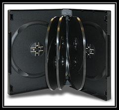 Evergreen 33mm 10 Disc DVD Case with Swing Trays - Black