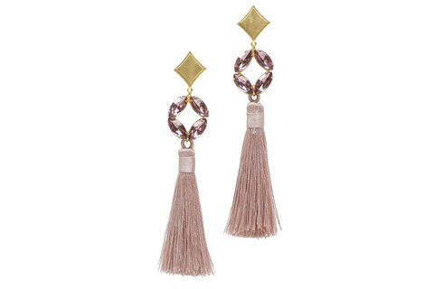 ALLIE TASSEL EARRINGS PINK