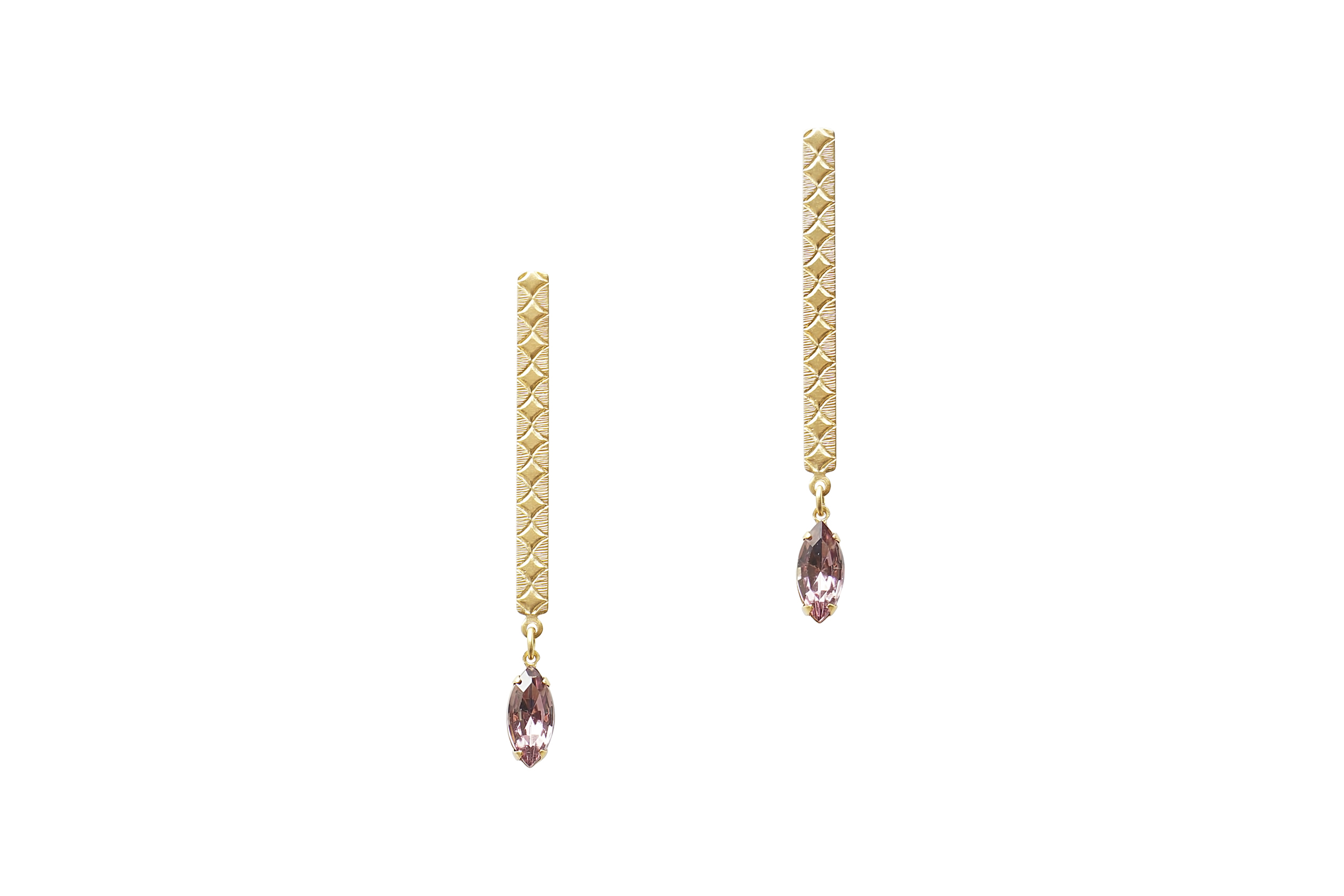 ALLIE DROP EARRINGS IN LT. AMETHYST