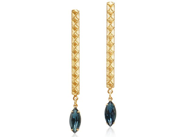 ALLIE DROP EARRINGS - NAVY