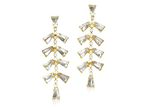 BETTIE GENE STATEMENT EARRINGS - CRYSTAL