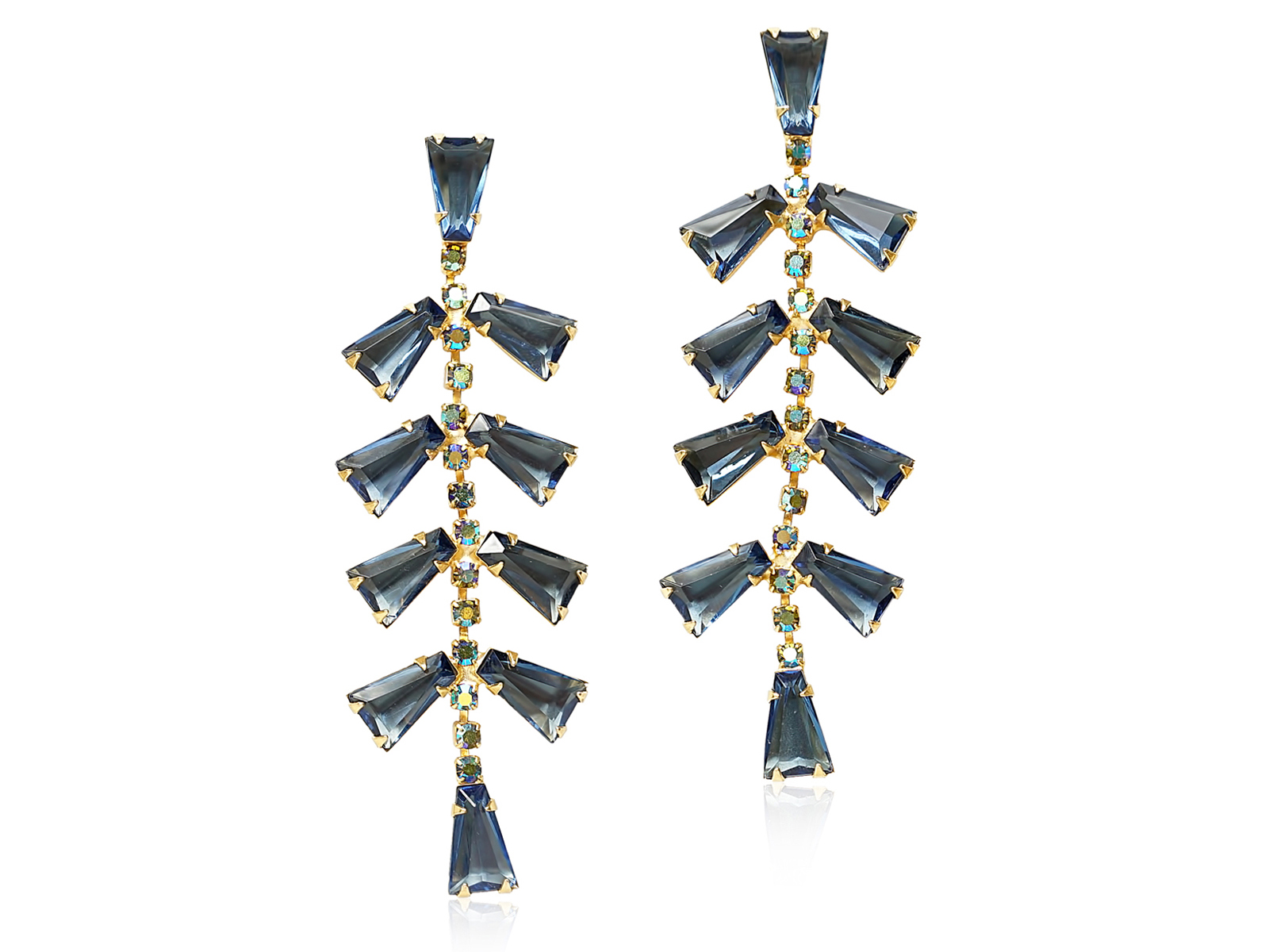 BETTIE GENE STATEMENT EARRINGS - NAVY
