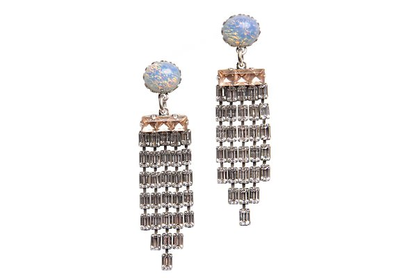 KRISTEN CHANDELIER EARRINGS IN SILVER