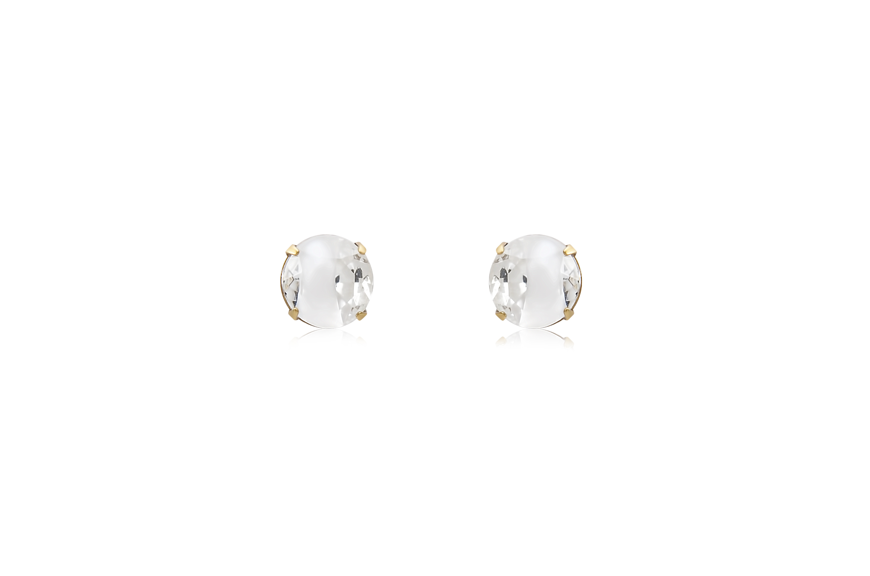 KENDRA STUD EARRINGS - IN WHITE