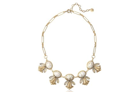 EMILY STATEMENT NECKLACE IN WHITE