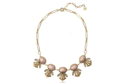 EMILY STATEMENT NECKLACE IN PINK