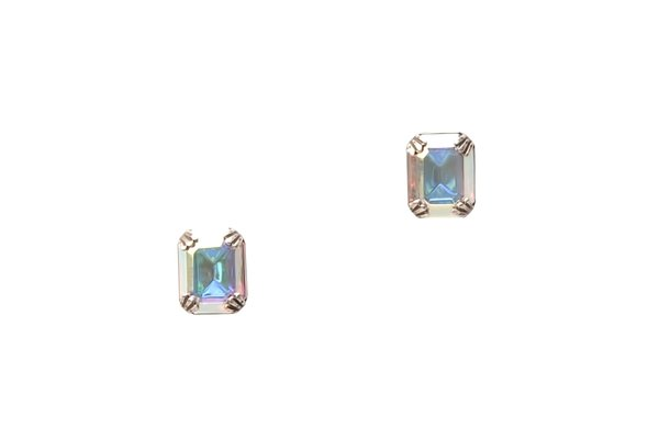 LYNDSEY STUD EARRINGS - SILVER CRYSTAL AB