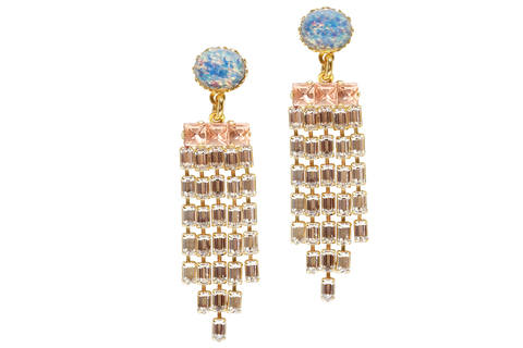 KRISTEN CHANDELIER EARRINGS IN GOLD