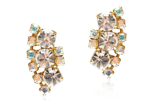 MARTHA STUD EARRINGS - CRYSTAL