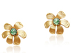 MAXINE STUD EARRINGS - GREEN