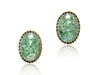 EMILY STUD EARRINGS - GREEN OPAL