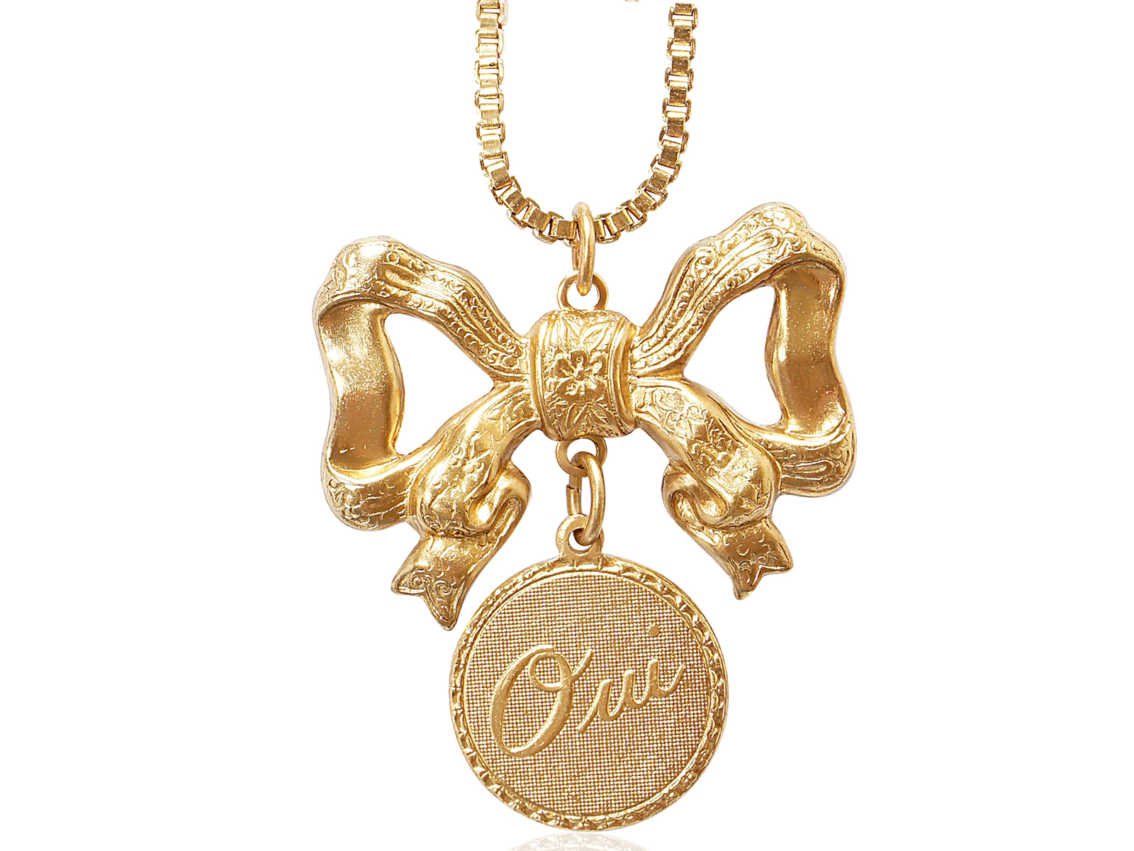 OUI PENDANT NECKLACE