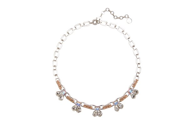 KRISTEN STATEMENT NECKLACE IN SILVER