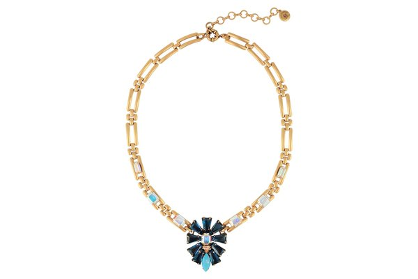 LYNDSEY STATEMENT NECKLACE IN NAVY