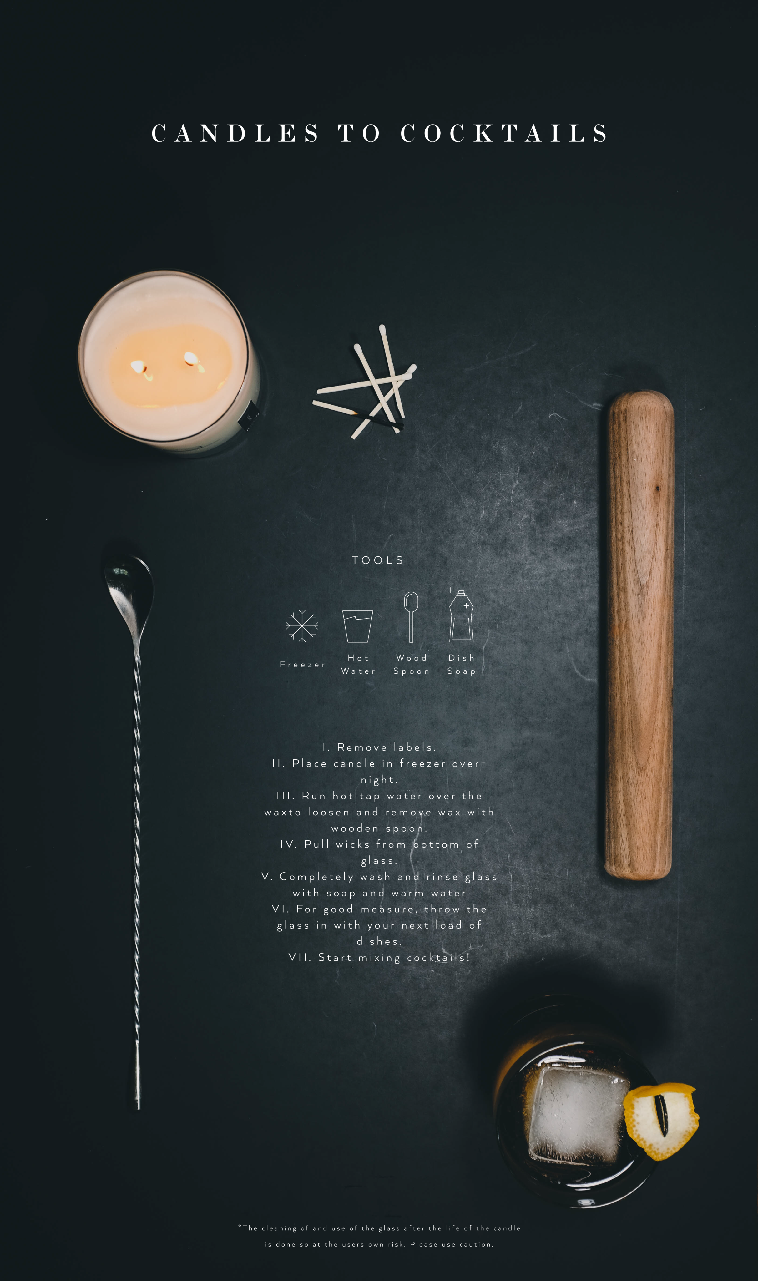 Candles to cocktails instructions