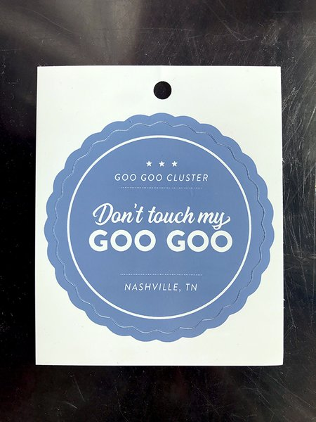 Don't Touch My Goo Goo Sticker
