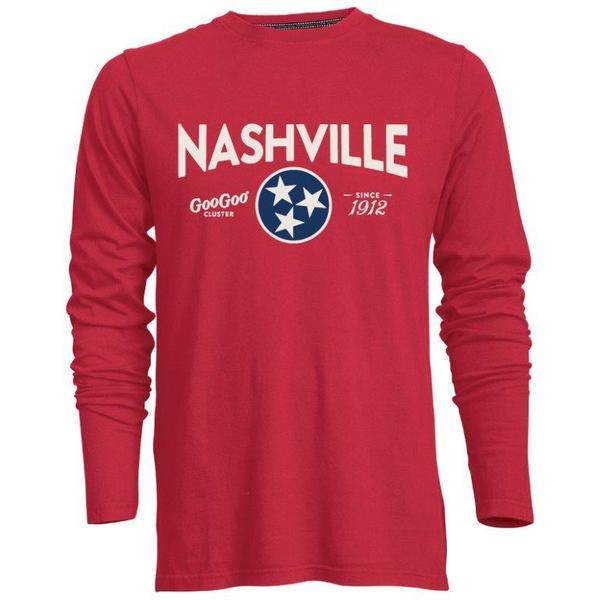 Red Long Sleeve Nashville Tee