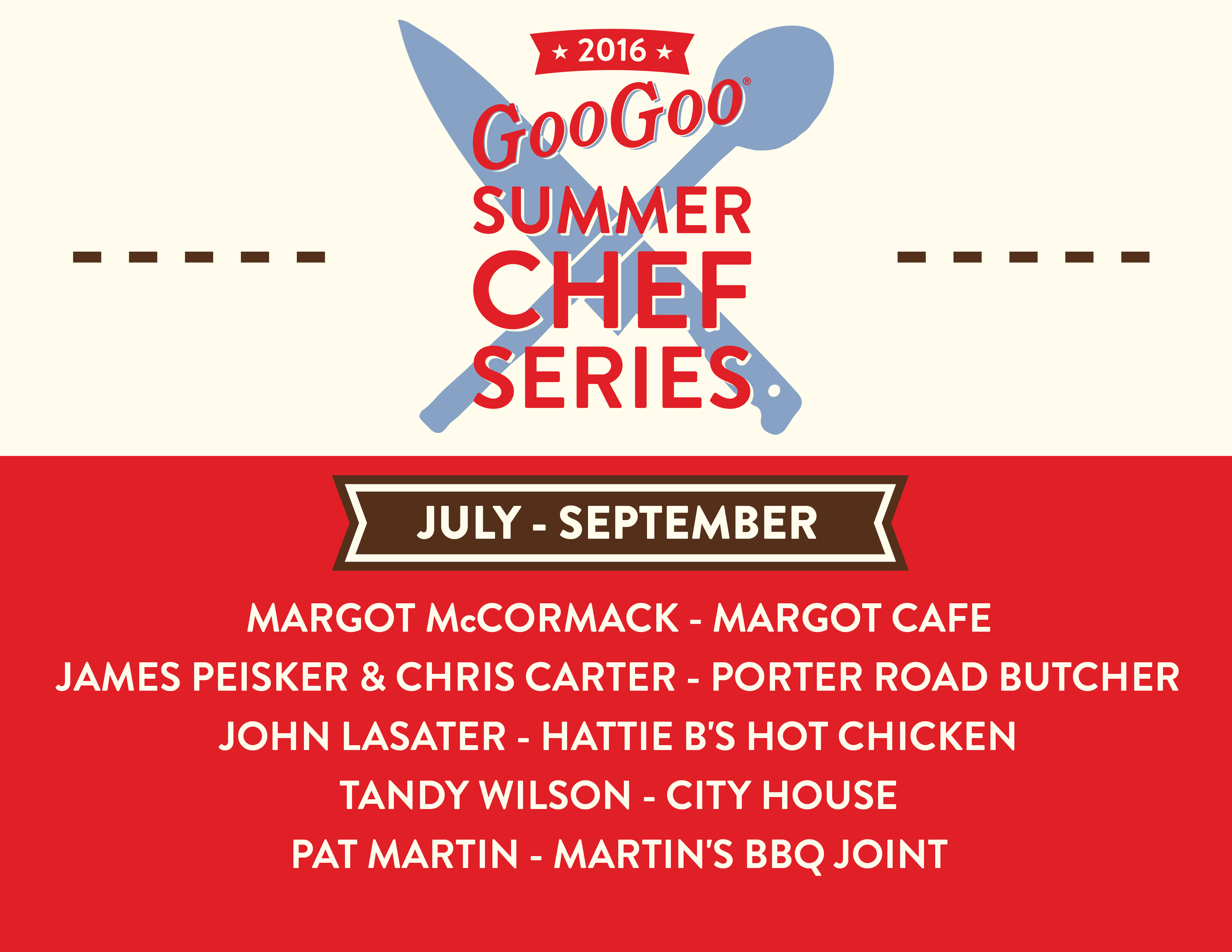 Goo Goo Summer Chef Series 2016 Image