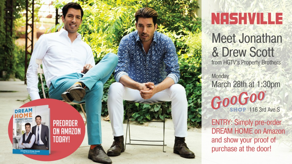 Goo Goo Shop Event: Meet the Scott Brothers – Jonathan and Drew Image