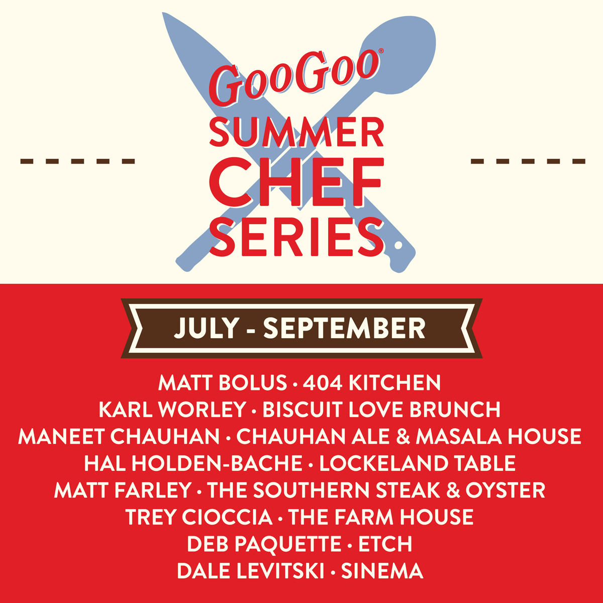 Announcing the Goo Goo Summer Chef Series Image