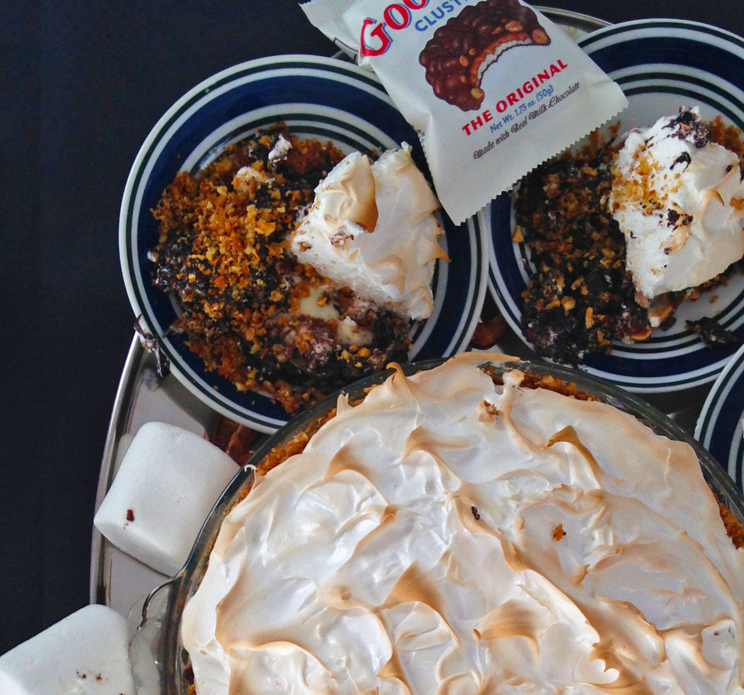 Gooey Goo Goo Brownie Pretzel Pie Image