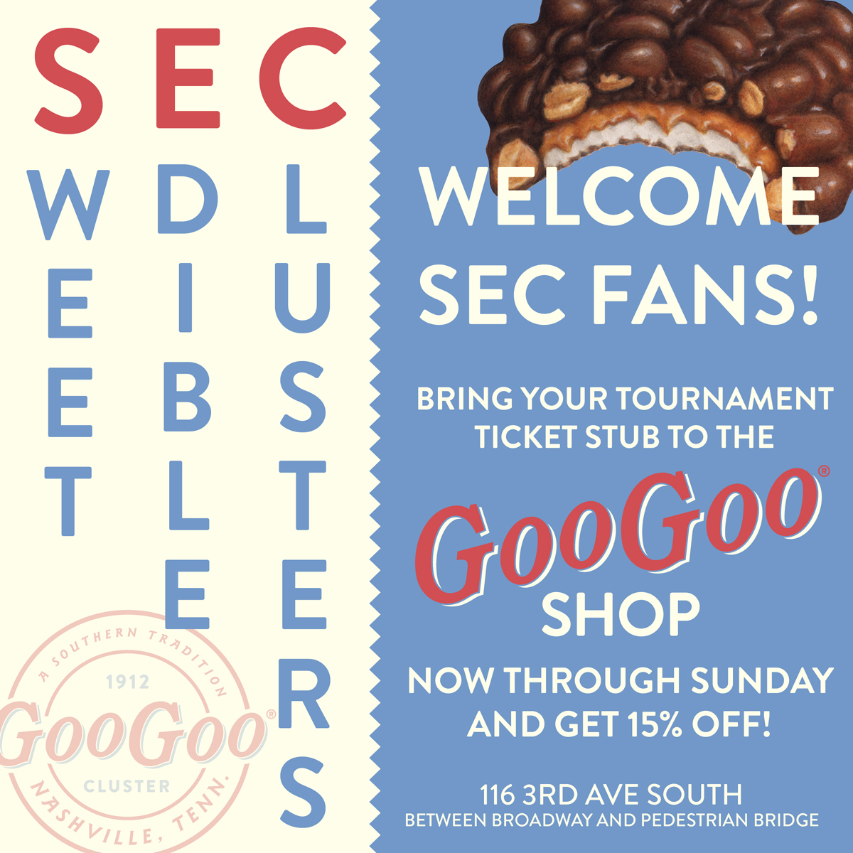 The Goo Goo Shop Welcomes SEC Tournament Fans to Nashville! Image
