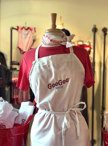 Embroidered Taste of Goo Goo White Apron