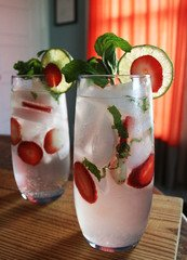 Strawberry Rhubarb Mojito