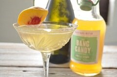 Peach Basil Bellini